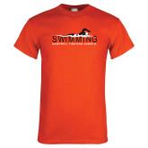 Orange T Shirt-Swimming w/ Swimmer Design