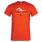 Orange T Shirt-Swimming Design