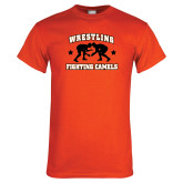 Orange T Shirt-Wrestling Design