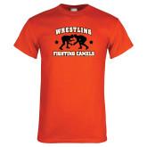 Orange T Shirt-Wrestling Design