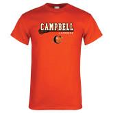 Orange T Shirt-Lacrosse Stick Design