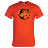 Orange T Shirt-C w/ Frankenstein Camel Head Halloween