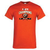 Orange T Shirt-2017 Big South Champions Mens Golf