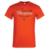 Orange T Shirt-2018 Womens Golf Champions
