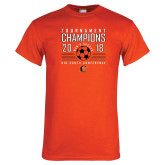 Orange T Shirt-2018 Mens Soccer Big South Champions