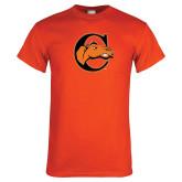 Orange T Shirt-C w/ Camel Head