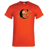 Orange T Shirt-Campbell Official Logo - Distressed