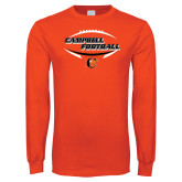 Orange Long Sleeve T Shirt-Inside Football Ball Design