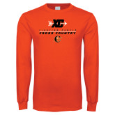Orange Long Sleeve T Shirt-Cross Country Design