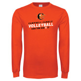 Orange Long Sleeve T Shirt-Can You Dig It - Volleyball Design