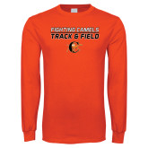 Orange Long Sleeve T Shirt-Track and Field Design