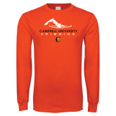 Orange Long Sleeve T Shirt-Swimming Design