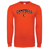 Orange Long Sleeve T Shirt-Arched Campbell University