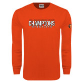 Orange Long Sleeve T Shirt-2017 Southern Conference Wrestling