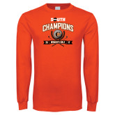 Orange Long Sleeve T Shirt-2017 Big South Champions Womens Golf
