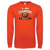Orange Long Sleeve T Shirt-2017 Big South Champions Womens Golf