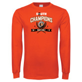 Orange Long Sleeve T Shirt-2017 Big South Champions Mens Golf