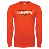 Orange Long Sleeve T Shirt-2018 Mens Tennis Champions