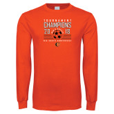 Orange Long Sleeve T Shirt-2018 Mens Soccer Big South Champions