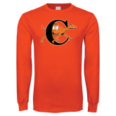 Orange Long Sleeve T Shirt-Campbell Official Logo