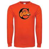 Orange Long Sleeve T Shirt-C w/ Camel Head
