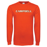 Orange Long Sleeve T Shirt-Campbell Flat