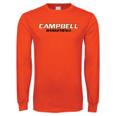Orange Long Sleeve T Shirt-Basketball