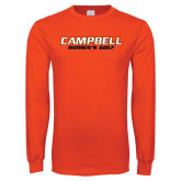 Orange Long Sleeve T Shirt-Womens Golf