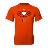 Under Armour Orange Tech Tee-Just Kick It Soccer Design