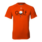 Under Armour Orange Tech Tee-Golf Text Design