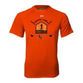 Under Armour Orange Tech Tee-Golf Crossed Sticks Designs