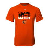 Under Armour Orange Tech Tee-Game Set Match Tennis Design