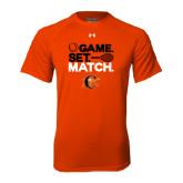 Under Armour Orange Tech Tee-Game Set Match Tennis Design