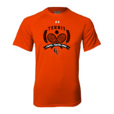 Under Armour Orange Tech Tee-Crossed Tennis Design