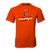 Under Armour Orange Tech Tee-Can You Dig It - Volleyball Design
