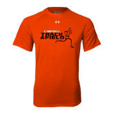 Under Armour Orange Tech Tee-Track and Field Runner Design