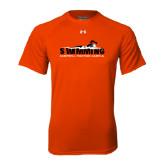 Under Armour Orange Tech Tee-Swimming w/ Swimmer Design