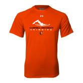 Under Armour Orange Tech Tee-Swimming Design