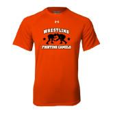 Under Armour Orange Tech Tee-Wrestling Design