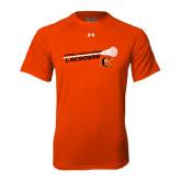 Under Armour Orange Tech Tee-Lacrosse Stick Rise Design