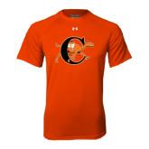 Under Armour Orange Tech Tee-Campbell Official Logo