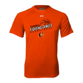 Under Armour Orange Tech Tee-Basketball Stacked Design