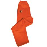 Champion PowerBlend Orange Fleece Open Bottom Pant-Campbell Official Logo