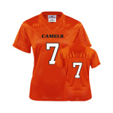 Ladies Orange Replica Football Jersey-#7