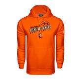 Under Armour Orange Performance Sweats Team Hoodie-Basketball Stacked Design