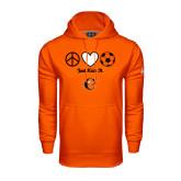 Under Armour Orange Performance Sweats Team Hoodie-Just Kick It Soccer Design