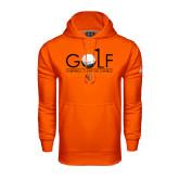 Under Armour Orange Performance Sweats Team Hoodie-Golf Text Design