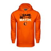 Under Armour Orange Performance Sweats Team Hoodie-Game Set Match Tennis Design