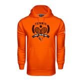 Under Armour Orange Performance Sweats Team Hoodie-Crossed Tennis Design