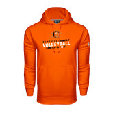 Under Armour Orange Performance Sweats Team Hoodie-Can You Dig It - Volleyball Design